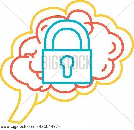 Introvert Function Of Human Brain Icon Vector