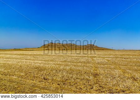 View Of The Horns Of Hattin, An Extinct Volcano With Twin Peaks In The Lower Galilee, Israel