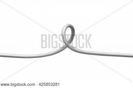 Kinked Industry Wire Conceptual (with Clipping Path) Isolated On White Background