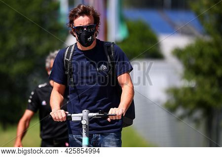 Fernando Alonso Of Alpine F1 Team    Walks In The Paddock During Previews Ahead Of The   Styrian Gra