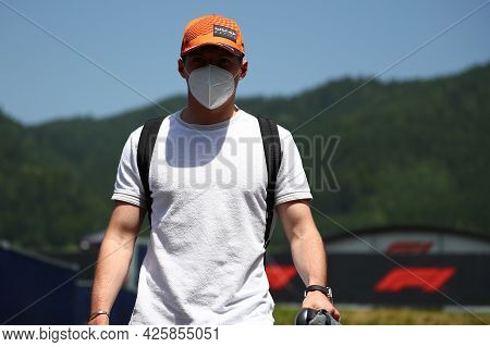 Max Verstappen Of Red Bull Racing   Walks In The Paddock During Previews Ahead Of The   Styrian Gran