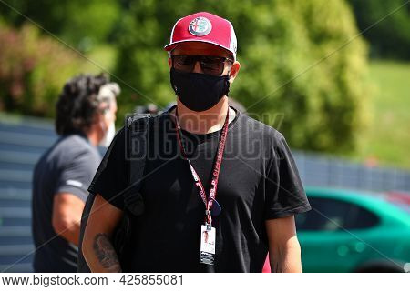 Kimi Raikkonen Of Alfa Romeo Racing   Walks In The Paddock During Previews Ahead Of The   Styrian Gr