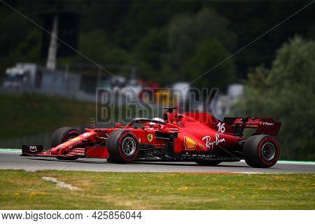 Charles Leclerc Of Scuderia Ferrari   On Track  During Free Practice Of   Styrian Formula 1 Gran Pri