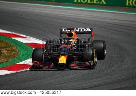 Max Verstappen Of Red Bull Racing   On Track  During Free Practice Of   Styrian Formula 1 Gran Prix