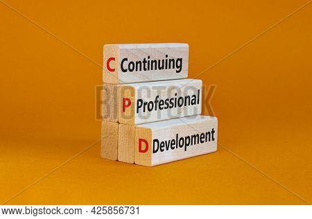 Cpd, Continuing Professional Development Symbol. Wooden Blocks With Words Cpd, Continuing Profession