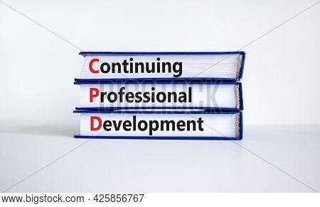 Cpd, Continuing Professional Development Symbol. Books With Words Cpd, Continuing Professional Devel