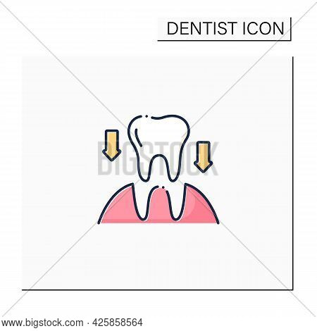 Tooth Transplants Color Icon. Tooth Transplants Concept. Technology Of Restorative Dentistry. Dental