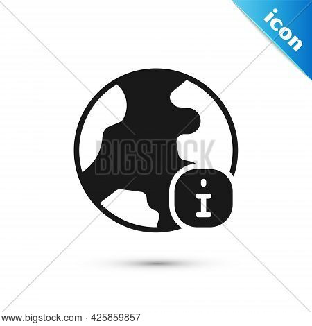 Grey World News Icon Isolated On White Background. Breaking News, World News Tv. Vector