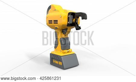 Electric Reinforcing Steel Wire Tier Tool - Isolated Concept Industrial 3d Illustration