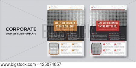 Corporate Business Flyer Template Vector Design For Brochure, Annual Report, Magazine, Poster, Corpo