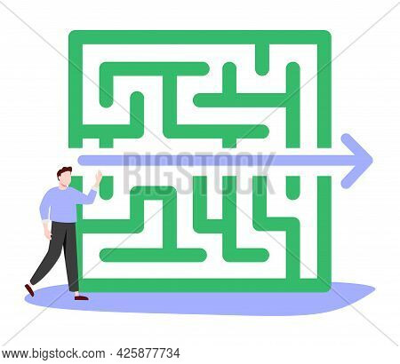 Fast Solution As Successful And Effective Problem Overcome Tiny Person Concept. Symbolic Business St