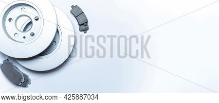 Car Engine Parts. Auto Motor Mechanic Spare Or Automotive Piece On White Background. New Metal Car P