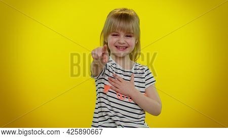 Blonde Teen Kid Child Girl Laughing Out Loud After Hearing Ridiculous Anecdote, Funny Joke, Feeling