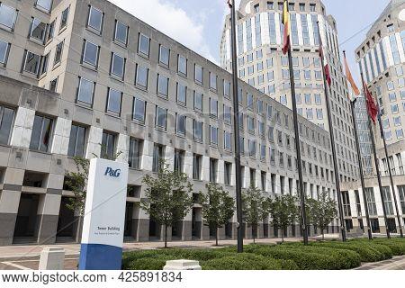 Cincinnati - Circa July 2021: Procter & Gamble Corporate Headquarters. P&g Makes Popular Consumer Br