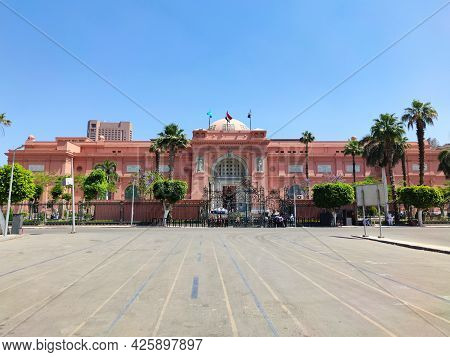 May 17, 2021. Cairo. Egypt: The Museum Of Egyptian Antiquities, Egyptian Museum, Which Houses The Wo
