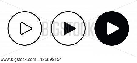 Play Button Vector Icon. Video Play Icon