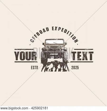 Template Of Off Road Car Logo, Off Road Logo In Retro Style , Suv Car Logo Template
