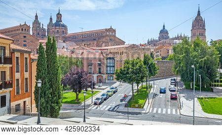 Salamanca in Spain on summer sunny day. Panoramic view, cityscape
