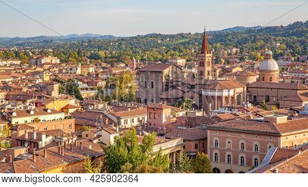 Panoramic view of Bologna city, Italy