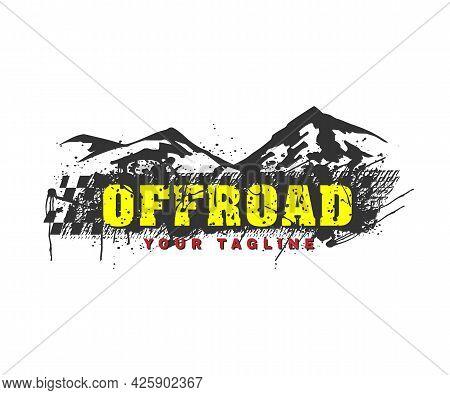 Off Road Adventure Logo Vector Transport Illustration