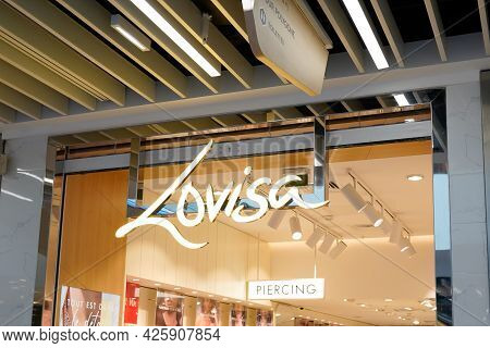 Montpellier , Ocitanie France  - 06 30 2021 : Lovisa Logo Sign And Brand Text Of Shop Fashionable Je