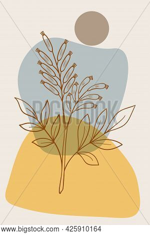 Bitter-wood, Abstract, Poster, Minimal Dd Ww Herb
