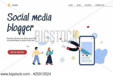Landing Page Template For Attraction Customers Using Influence Marketing.