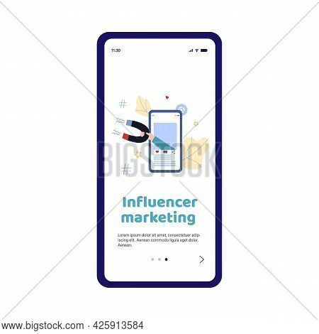Smartphone App For Attraction Customers Using Influence Advertising Marketing.