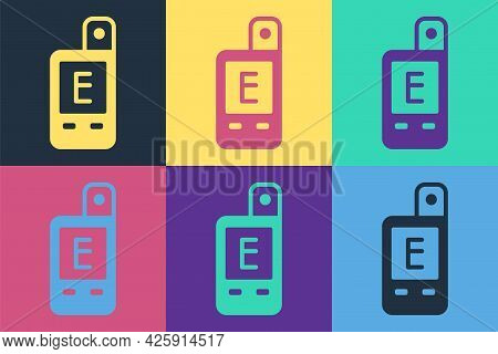 Pop Art Light Meter Icon Isolated On Color Background. Hand Luxmeter. Exposure Meter - A Device For