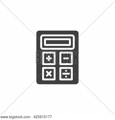 Calculator Vector Icon. Filled Flat Sign For Mobile Concept And Web Design. Calculator Glyph Icon. S