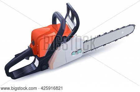 Petrol Chain Saw Powerful Tool For Sawing Wood