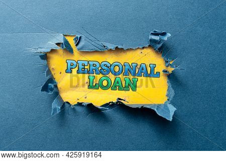 Text Showing Inspiration Personal Loan. Business Idea Borrowing A Fixed Amount Of Money From A Bank