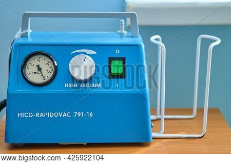 Portable Aspirator For Pumping Fluid Out Of The Lungs - Russia, Moscow Region, June 23, 2021