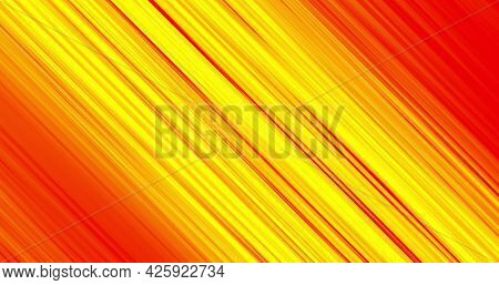 Image of colourful yellow and red light trails moving on black background. Colour light movement concept digitally generated image.