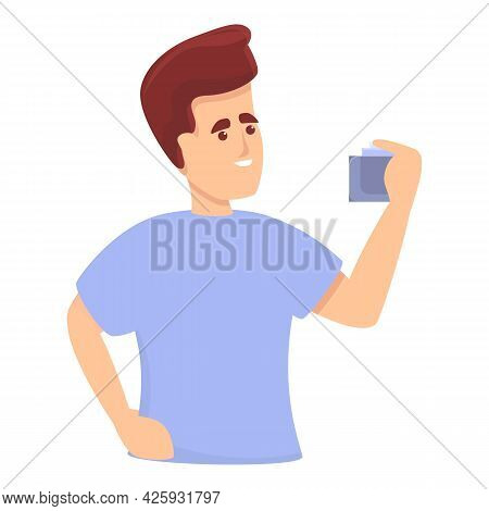 Boy Perfume Icon Cartoon Vector. Gift Man Spray. Adult Beauty Perfume