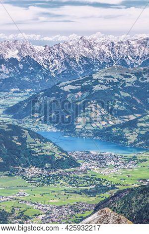 The Town Of Zell Am See In The Zell Am See-kaprun Region, Austrian Alps, Salcburger Land