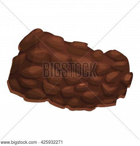 Piece Truffle Icon Cartoon Vector. Mushroom Fungus. Cooking Fungi