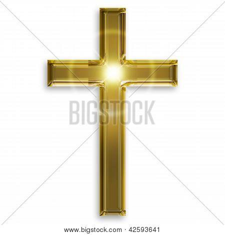 golden symbol of crucifix