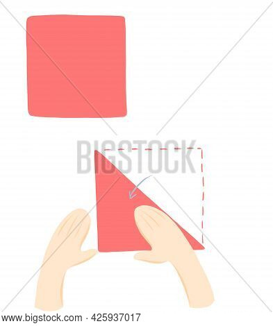 Step-by-step Instructions For Making A Festive Origami Tulip Out Of Paper.gift For Mother, Sister Or
