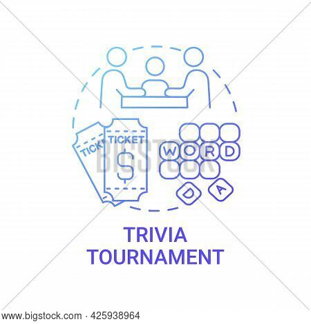 Trivia Tournament Fundraiser Concept Icon. Fundraising Abstract Idea Thin Line Illustration. Charge