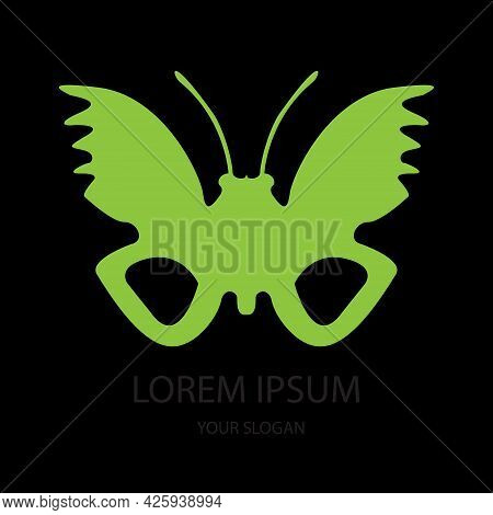 Delightful Butterfly Sticker With Go Green Concept