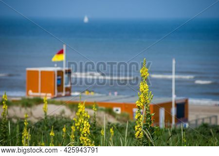 26 June 2021, The Hague, Netherlands, Rescue Guard, House,  On The Bathing Area No.4 Or Strandslag,