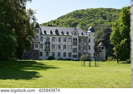 Burg Namedy, May 15th 2020, Andernach-namedy, Germany - During Lockdown The Rebuilt Castle Was Compl