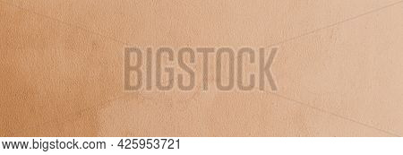 Panorama Of Brown Paper Texture Or Paper Background. Seamless Paper For Design. Close-up Paper Textu