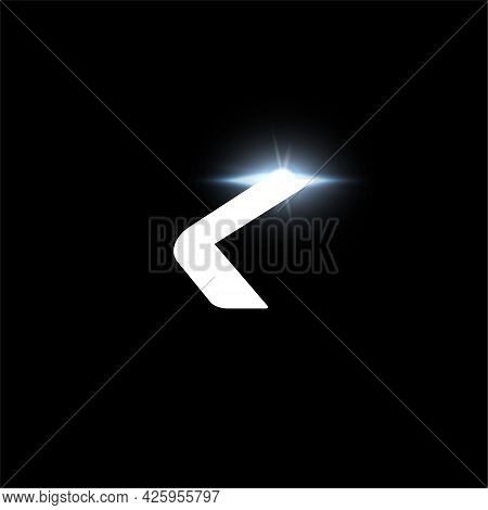 K Letter Logo, Bold Italic Letter For Automotive, Speed Race, Sport Label Design And Dynamic Monogra