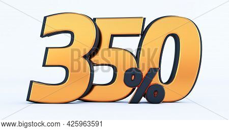 3d Render Of Discount Three Hundred Fifty 350 Percent Off Isolated On White Background