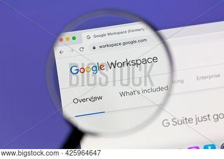 Ostersund, Sweden - June 2, 2021: Google Workspace website. Google Workspace is the same service as G Suite.