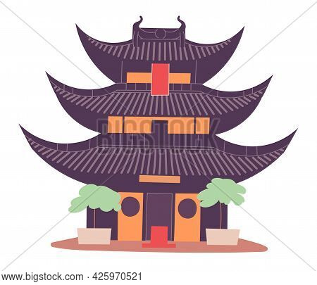 Ancient Chinese Tower Traditional Structure Historic Cultural Heritage.