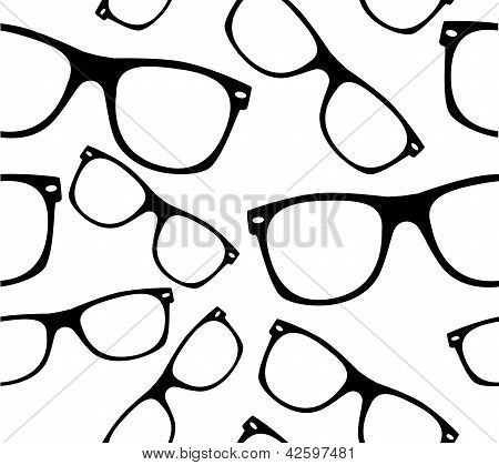 glasses Seamless pattern retro sunglasses vector background