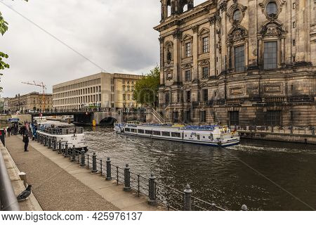 13 May 2019 Berlin, Germany - Berlin Cathedral (Berliner Dom) at famous Museumsinsel (Museum Island)